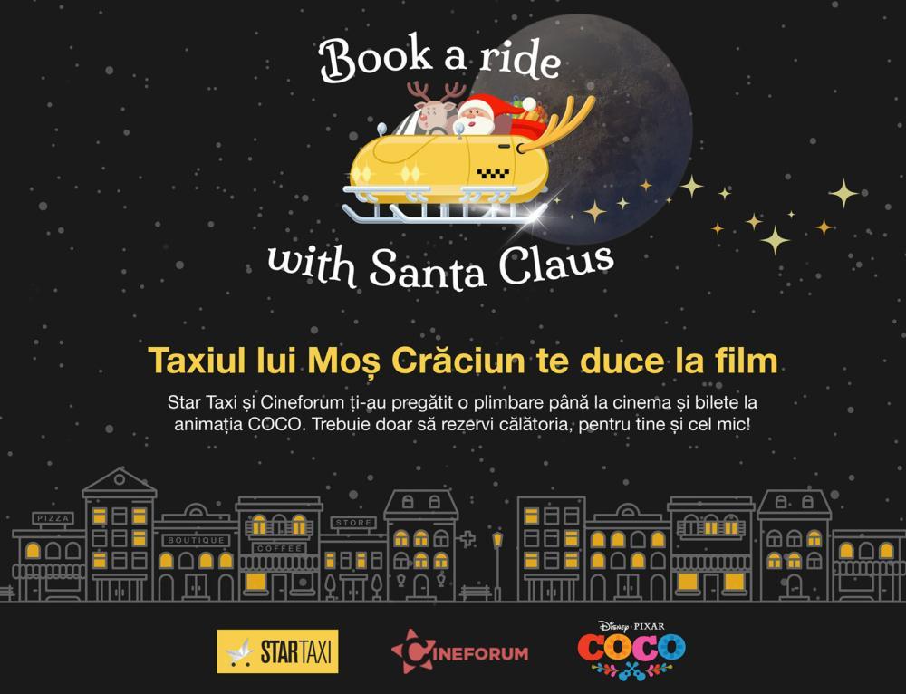 Taxiul lui Moș Crăciun te duce la film