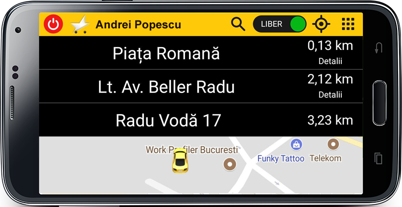 Aplicatie Taxi Romania
