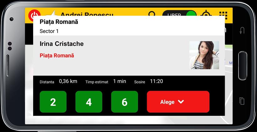 Aplicatie Soferi Taxi